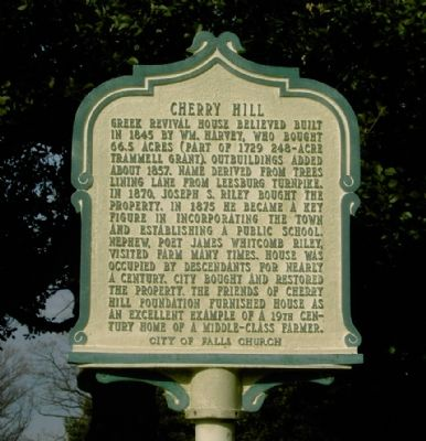 Cherry Hill Marker image. Click for full size.
