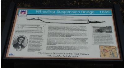 Wheeling Suspension Bridge Marker image. Click for full size.