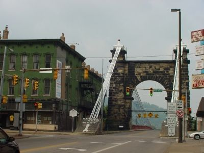Both Wheeling Bridge Markers image. Click for full size.