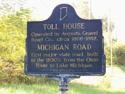 Toll House - Michigan Road Marker image. Click for full size.