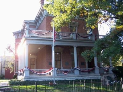 Home of Benjamin Harrison. The home is open for tours. image. Click for full size.