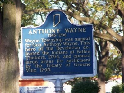 Anthony Wayne 1745-1796 Marker image. Click for full size.