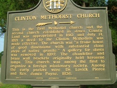 Clinton Methodist Church Marker image. Click for full size.