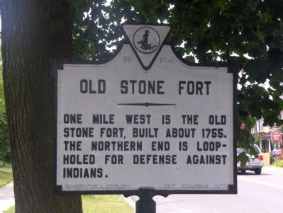 Old Stone Fort Marker image. Click for full size.