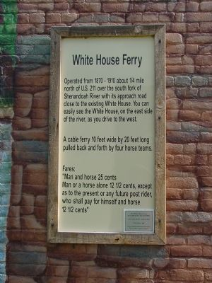 White House Ferry Marker image. Click for full size.