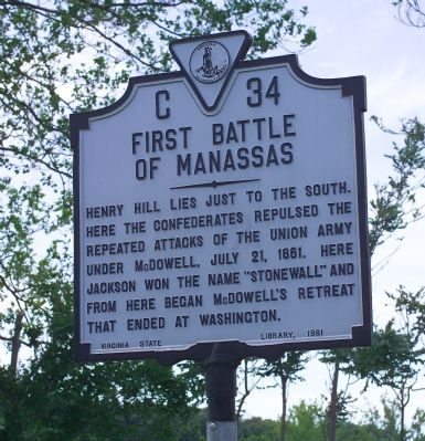 First Battle of Manassas Marker image. Click for full size.