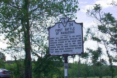 First Battle of Manassas Marker's previous location image. Click for full size.