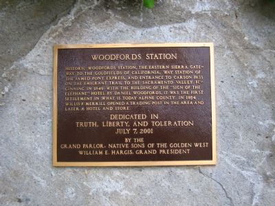 Woodfords Station Marker image. Click for full size.