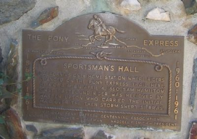 Pony Express Sportsman's Hall Marker image. Click for full size.