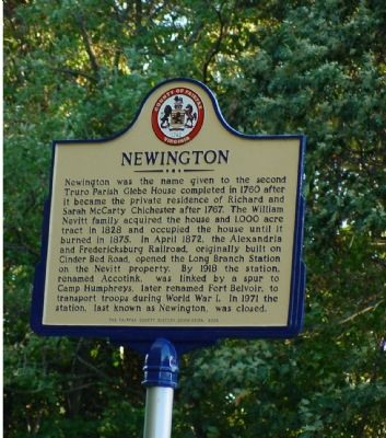 Newington Marker image. Click for full size.