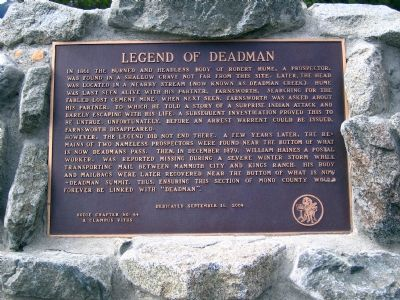 Legend of Deadman Marker image. Click for full size.