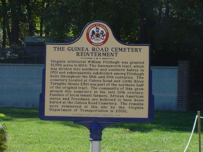 The Guinea Road Cemetery Reinterment Marker image. Click for full size.