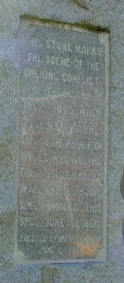 Marr Monument Inscription image. Click for full size.