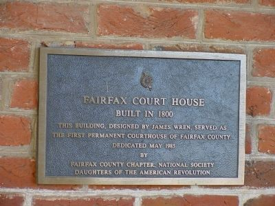 Fairfax Court House Marker image. Click for full size.