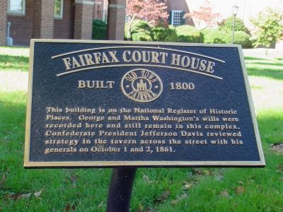 Fairfax Courthouse Marker image. Click for full size.