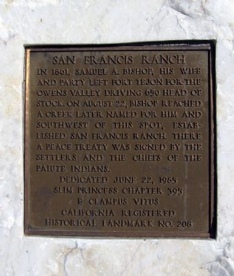 San Francis Ranch Marker image. Click for full size.