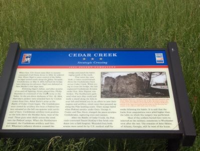Cedar Creek Marker image. Click for full size.