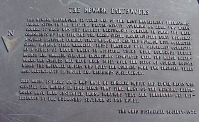 The Newark Earthworks Marker Text image. Click for full size.