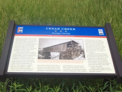 Cedar Creek, Strategic Crossing, 1862 Valley Campaign image. Click for full size.