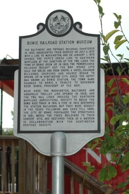 Bowie Railroad Station Museum Marker image. Click for full size.