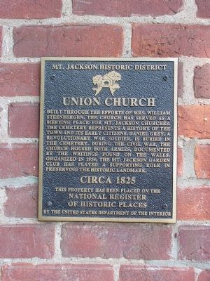 Union Church - Circa 1825 Marker image. Click for full size.