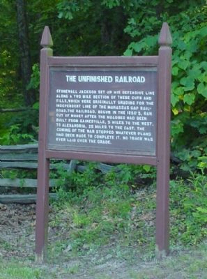 The Unfinished Railroad Marker image. Click for full size.