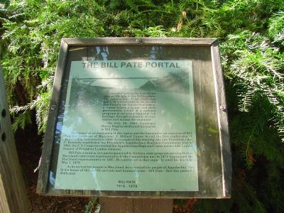 The Bill Pate Portal Marker image. Click for full size.