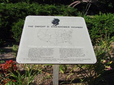 The Dwight D. Eisenhower Highway Marker image. Click for full size.