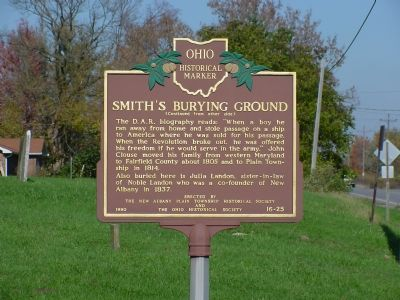 Smith's Burying Ground Marker, Side 2 image. Click for full size.