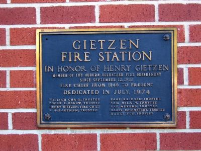 Gietzen Fire Station Marker image. Click for full size.