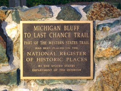 Michigan Bluff to Last Chance Trail image. Click for full size.