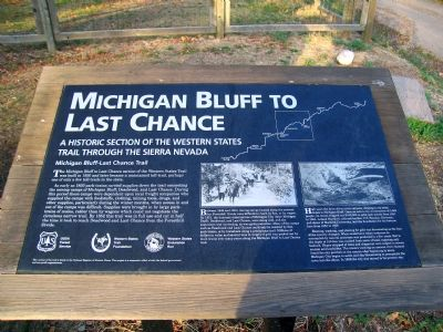 Michigan Bluff to Last Chance Marker image. Click for full size.