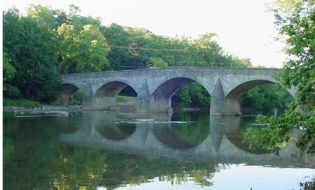 Wilson Bridge Carried the National Pike Across the Conococheague Creek image. Click for full size.