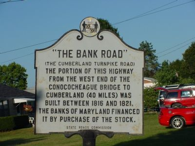 Bank Road Marker image. Click for full size.