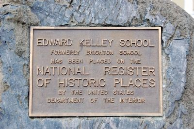 Edward Kelley School Marker image. Click for full size.