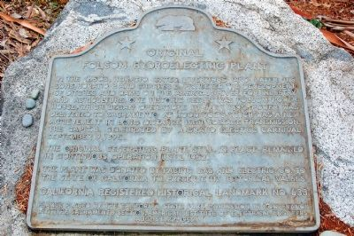 Original Folsom Hydroelectric Plant Marker image. Click for full size.