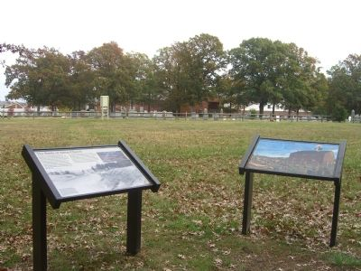 """The Battle of Salem Church"" and ""From Church to Hospital"" Markers image. Click for full size."