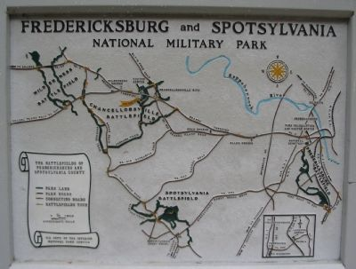 Battle Map and Park Tour Map image. Click for full size.