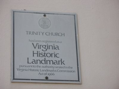 Virginia Historic Landmark image. Click for full size.
