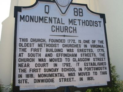 Monumental Methodist Church Marker image. Click for full size.