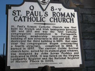 St. Paul's Roman Catholic Church Marker image. Click for full size.