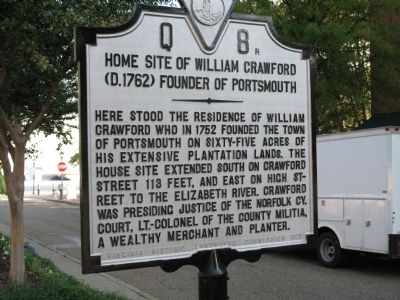 Home Site of William Crawford Marker image. Click for full size.