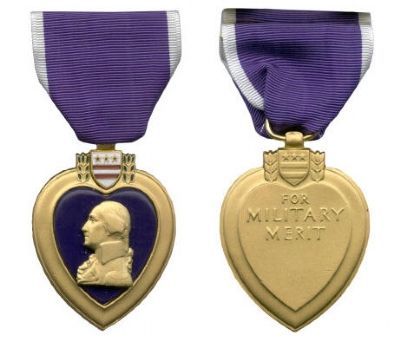 The Purple Heart Medal image. Click for full size.
