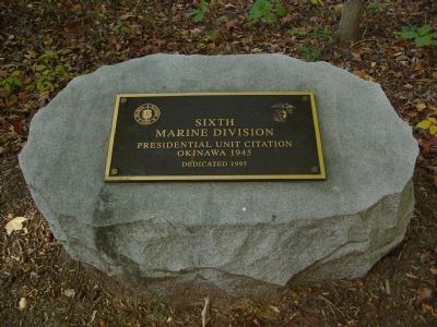 Sixth Marine Division Marker image. Click for full size.