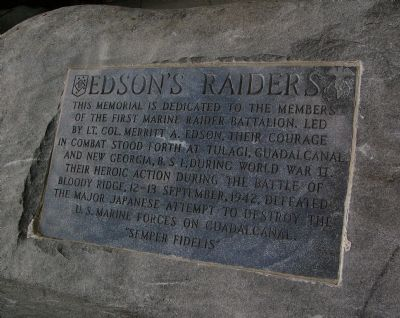 Edson's Raiders Marker image. Click for full size.
