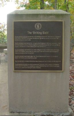 The 'Striking Sixth' Memorial Marker image. Click for full size.
