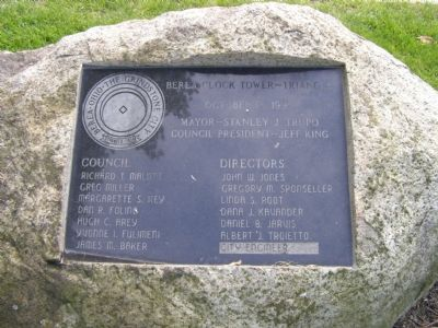 1999 Dedication plaque image. Click for full size.