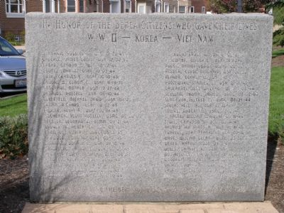 World War II, Korea, Viet Nam Memorial image. Click for full size.