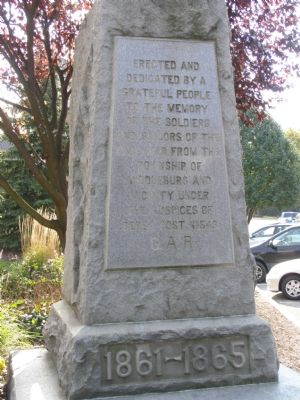 text on Civil War Memorial image. Click for full size.