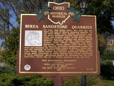 Berea Sandstone Quarries Marker image. Click for full size.
